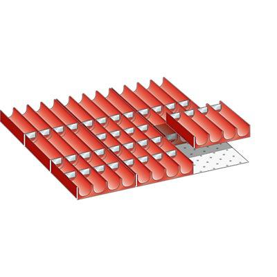 Lista Schubladeneinteilung - Muldenset, für Fronthöhe 75 – 300 mm, 49-teilig