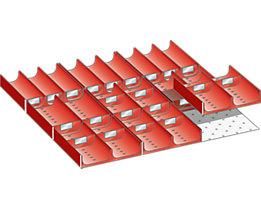 Lista Schubladeneinteilung - Muldenset, für Fronthöhe 75 – 300 mm, 39-teilig
