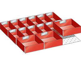 Lista Schubladeneinteilung - Einsatzkästen-Set, für Fronthöhe 100 mm