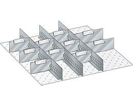 Lista Schubladeneinteilung - Trennwände, verzinkt, für Fronthöhe 100 mm