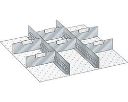 Lista Schubladeneinteilung - Trennwände, verzinkt, für Fronthöhe 75 mm
