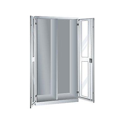 Lista Sichtfensterschrank, HxBxT 1950 x 1000 x 580 mm - Leergehäuse mit Trennwand