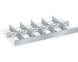Lista Schubladeneinteilungsset für Schublade - Breite 1000 mm, 6 Trennbleche