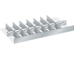 Lista Schubladeneinteilungsset für Schublade - Breite 1000 mm, 8 Trennbleche