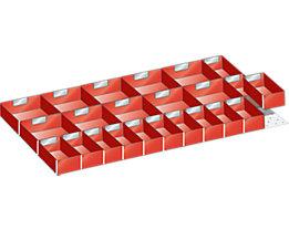 Lista Schubladeneinteilungsset für Schublade - Breite 1000 mm, 1 Distanzwinkel