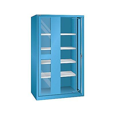 Lista Schwerlasteinschwenktürenschrank - 4 Fachböden, mit Sichtfenstertüren