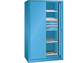 Lista Schwerlasteinschwenktürenschrank - 3 Schubladen, 4 Fachböden, mit Vollblechtüren