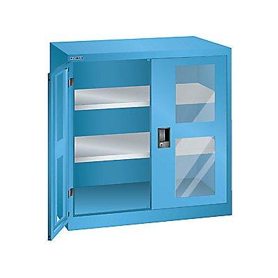 Lista Flügeltürenschrank, 2 Fachböden - Breite 1000 mm, mit Sichtfenster