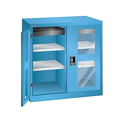 Lista Flügeltürenschrank, 2 Fachböden - Breite 1000 mm, mit Sichtfenster, 1 Schublade