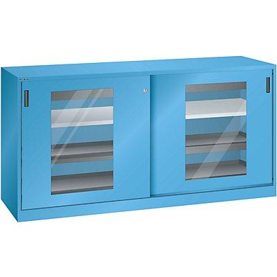 Lista Schiebetürenschrank mit Sichtfenstertüren - 2 Fachböden, 4 Auszugböden, 2 Schubladen