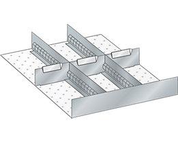 Lista Schubladeneinteilungsset für Schublade - Breite 500 mm, 3 Trennbleche