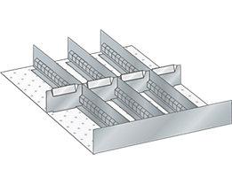 Lista Schubladeneinteilungsset für Schublade - Breite 500 mm, 4 Trennbleche