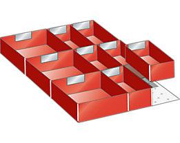 Lista Schubladeneinteilungsset für Schublade - Breite 500 mm, 1 Distanzwinkel