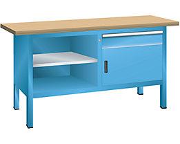 Lista Kompaktwerkbank, Multiplexplatte - 1 Schublade, 1 Tür, 3 Fachböden