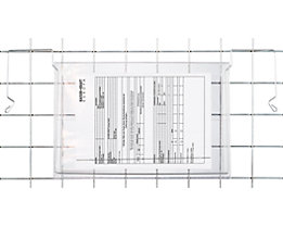 Dokumenten-Einstecktasche - mit Drahtbügel, VE 100 Stk
