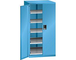 Lista Schubladenschrank - Höhe 1450 mm, 5 Böden, Traglast 75 kg, lichtblau