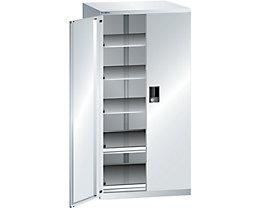 Lista Schubladenschrank - Höhe 1450 mm, 5 Böden, Traglast 75 kg, lichtgrau