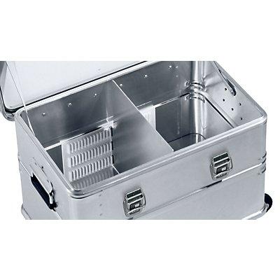 Kit de compartimentage pour caisses multi-usages en alu - pour caisse de 135 l - 1 cloison et 2 parois crantées