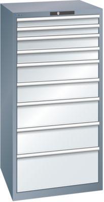 Lista Schubladenschrank, 9 Schubladen - BxTxH 717 x 725 x 1450 mm