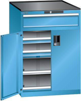 Lista Schubladenschrank - Höhe 1020 mm, 2 Böden, 3 Schubladen, Traglast 200 kg