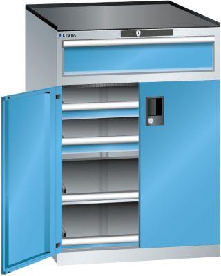 Lista Schubladenschrank - Höhe 1020 mm, 2 Böden, 3 Schubladen, Traglast 75 kg