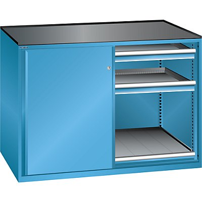 Lista Schiebetürenschrank, Traglast Auszugboden 75 kg - 4 Schubladen, 2 Auszugböden