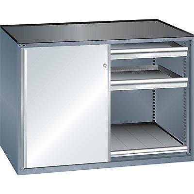 Lista Schiebetürenschrank, Traglast Auszugboden 200 kg - 4 Schubladen, 2 Auszugböden