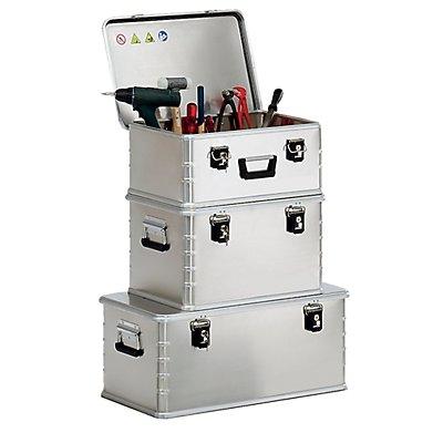 ZARGES Alu-Kombi-Box - Set mit 4 Boxen - 1 Koffer je 42 l, 60 l, 81 l, 135 l