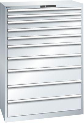 Lista Schubladenschrank, 10 Schubladen - BxTxH 1023 x 725 x 1450 mm
