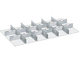 Lista Schubladeneinteilungsset - 5 Schlitzwände, 12 Trennbleche, 17-teilig, für Fronthöhe 200 mm