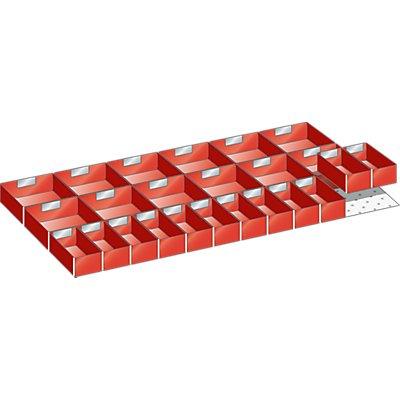 Lista Schubladeneinteilungsset - 24 Einsatzkästen, 125 mm