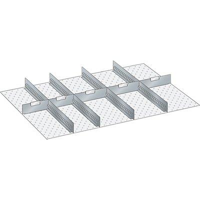 Lista Schubladeneinteilungsset - 4 Schlitzwände, 5 Trennbleche, 9-teilig, für Fronthöhe 300 mm