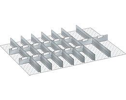 Lista Schubladeneinteilungsset - 7 Schlitzwände, 14 Trennbleche, 21-teilig, für Fronthöhe 75 mm