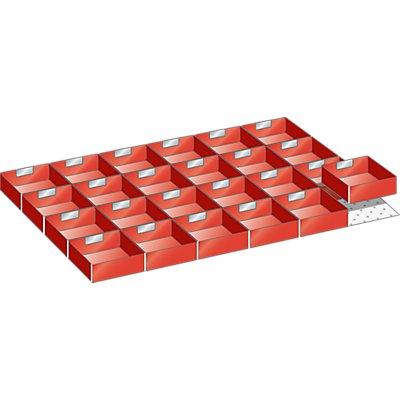 Lista Schubladeneinteilungsset - 24 Einsatzkästen, rot