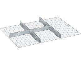 Lista Schubladeneinteilungsset - 2 Schlitzwände, 2 Trennbleche, für Fronthöhe 75 mm