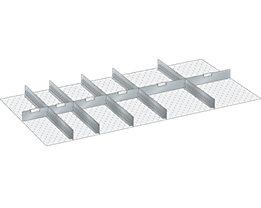 Lista Trennblech, 11-teilig - 5 Schlitzwände, 6 Trennbleche, für Fronthöhe 75 mm