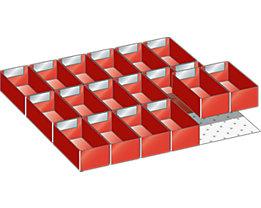 Lista Schubladeneinteilungs-Set - 18 Einsatzkästen, 125 mm