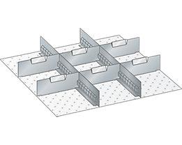 Lista Schubladeneinteilungs-Set - 2 Schlitzwände, 6 Trennbleche, für Fronthöhe 50 mm