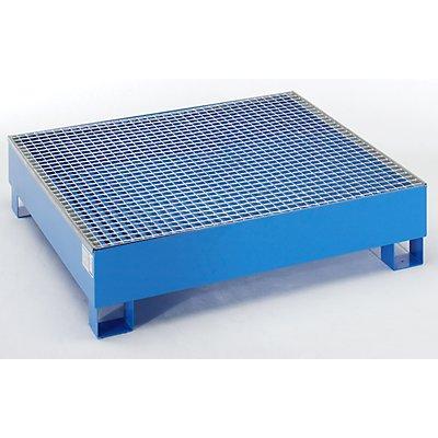 Auffangwanne für 200 l - LxBxH 1200 x 1200 x 285 mm, ohne Zulassung