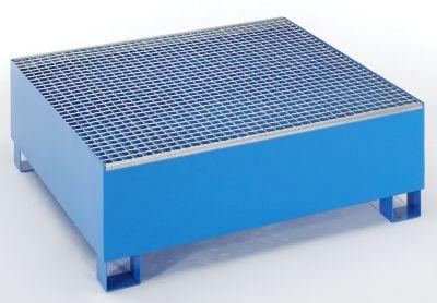 Auffangwanne für 200 l - LxBxH 1200 x 1200 x 415 mm, ohne Zulassung