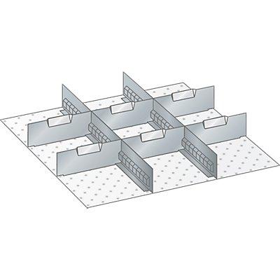 Lista Schubladeneinteilungs-Set - 2 Schlitzwände, 6 Trennbleche