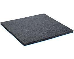 Lista Schaumstoffunterlage für Schublade - schwarz, BxT 600 x 447 mm