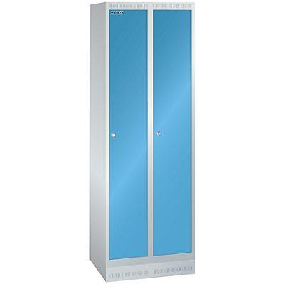 Lista Garderobenschrank, Höhe 1800 mm - BxT 600 x 500 mm, 2 Abteile, Vollblechtüren glatt
