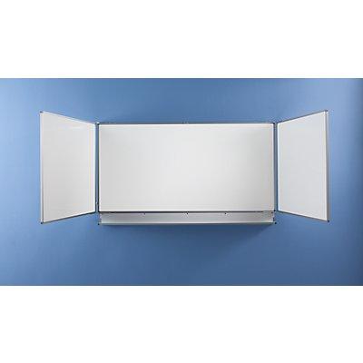 QUIPO Tableau mural pliable - l x h ouvert 4000 x 1000 mm - largeur tableau de base 2000 mm