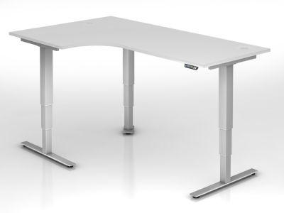 UPLINER-2.0 Stehschreibtisch - Winkelform, Breite 2000 mm
