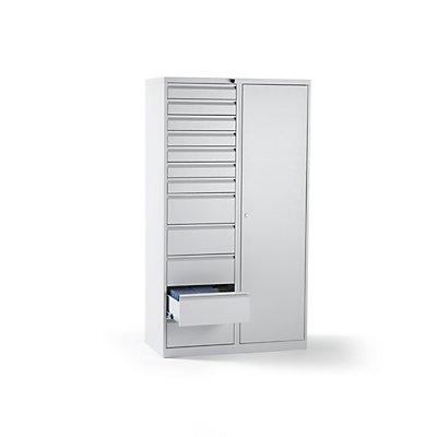 QUIPO Schubladenschrank, Stahl - HxBxT 1800 x 1000 x 500 mm, 12 Schubladen