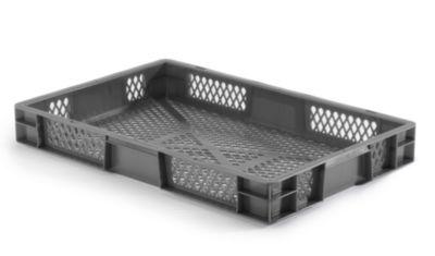 Euro-Format-Stapelbehälter, Wände und Boden durchbrochen - LxBxH 600 x 400 x 75 mm
