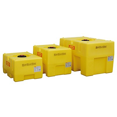 PE-Fass - kastenförmig, gelb