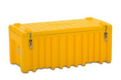 CEMO Universalbox aus Polyethylen - Inhalt 250 l, Traglast 200 kg - grau / orange