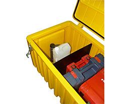 CEMO Trennwand - aus Polyethylen, für 750-l-Box